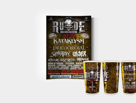 R.U.D.E. Open Air 2018 / Poster & Festival-Cups