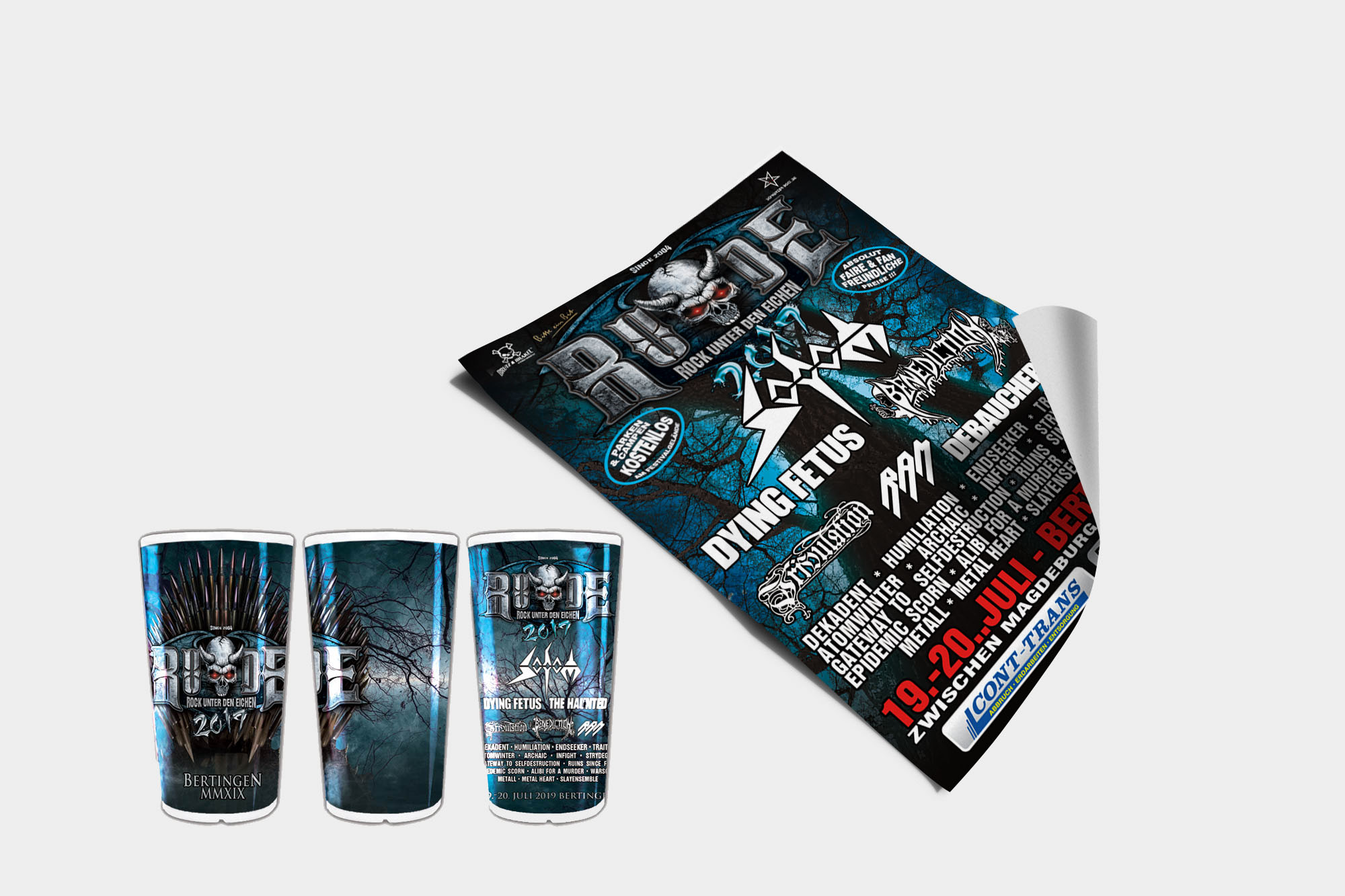 R.U.D.E. Open Air 2019 / Poster & Festival-Cups